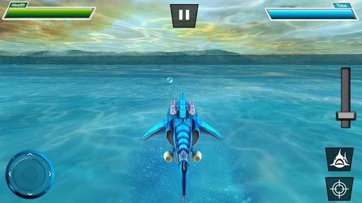 Warrior Robot Sharku2013 Shark Robot Transformation apktram screenshots 14