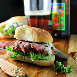 Grilled Steak Sandwiches with Chimichurri Sauce Recipe
