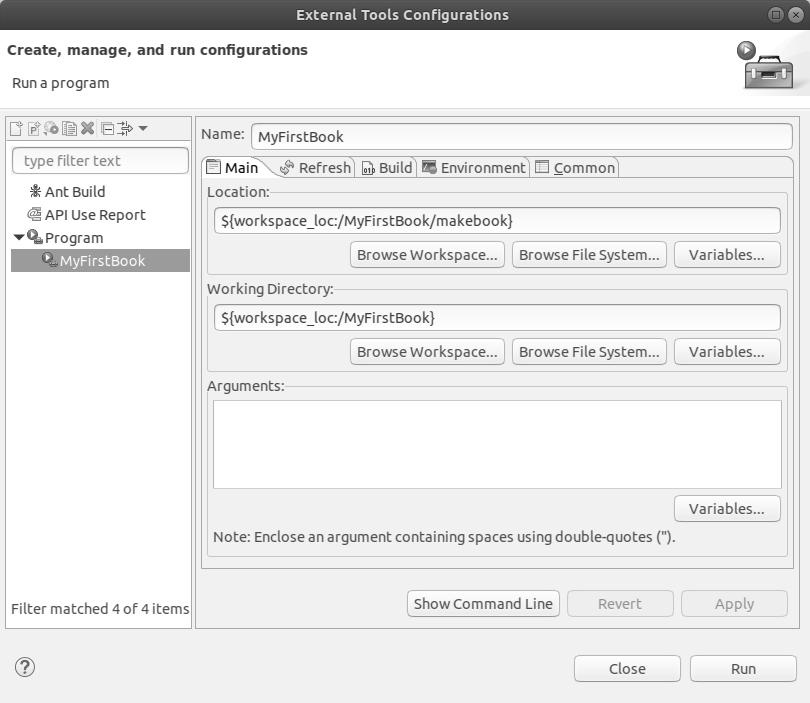 External Tools Configurations End
