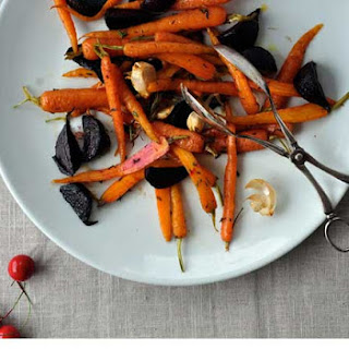 Balsamic Roasted Beetroot And Orange And Thyme Roasted Carrots