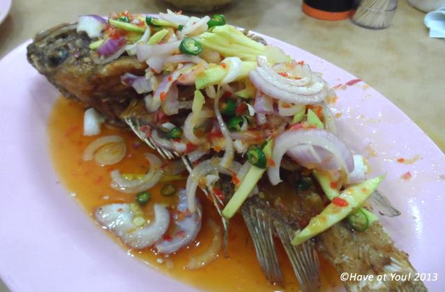 thai fried grouper