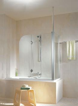 Pare-baignoire Nice, 140 cm, 2 volets avec paroi latérale