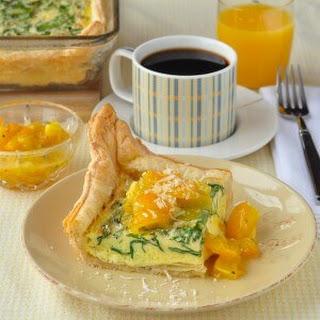 Parmesan Spinach Quiche Recipe