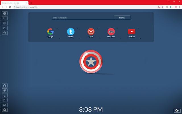 Captain America Full HD HD New Tab