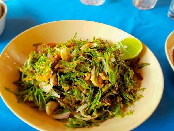 Try the salad at Hlan Hlan Hnan