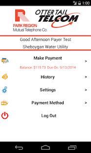 Park Region Telephone Payments screenshot