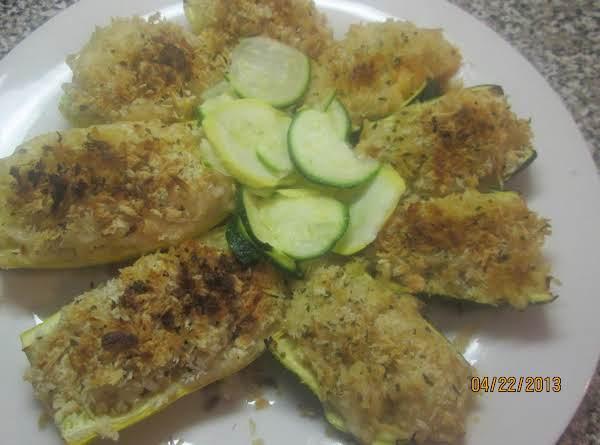Zucchini & Squash Boats W/brown Rice& Parmesan Recipe