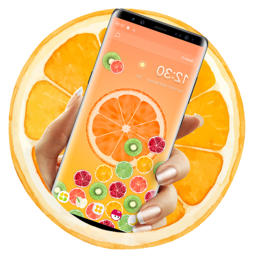 3D Fruits Gravity Theme