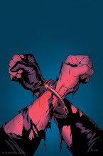 Photo: AVX CONSEQUENCES #1 COVER. 2012. Ink(ed by Joe Rivera) on Marvel board, 11 × 17.25″.