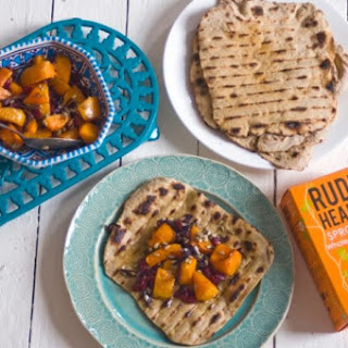 Buckwheat Flatbreads With Butternut Squash, Cranberries And Sunflower Seeds