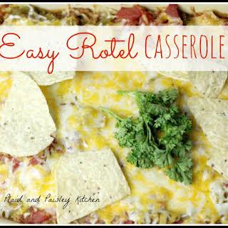 Easy Rotel Casserole.