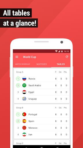 World Cup App 2018 - Live Scores & Fixtures  screenshots 3