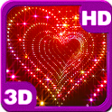 Tunnel Glitter Spark Heart 3D icon