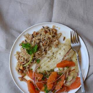 Baked Fish with Cara Cara Orange Salsa.
