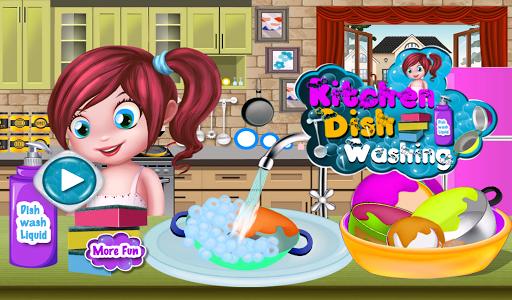 廚房清洗清洗遊戲