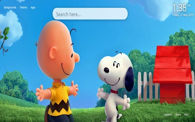 Snoopy and Charlie Brown Wallpaper