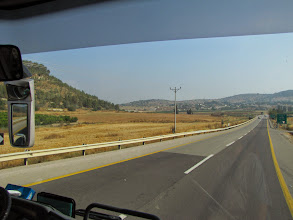 Photo: Driviging through the Elah Valley towards Philistia (Gaza Strip) along the same route that the Philistines fled