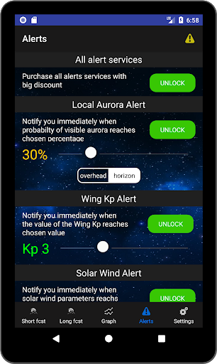 Aurora Alerts - Northern Lights forecast 2.7 Screenshots 8