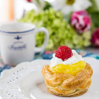 Puff Pastry Baskets with Creamy Lemon Filling.