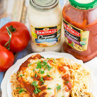 One Dish Baked Cheesy Chicken and Pasta.