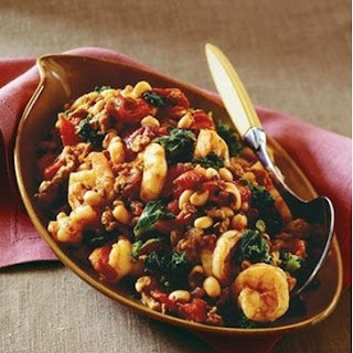 Weight Watchers Sausage, Kale, and Shrimp with Black-Eyed Peas