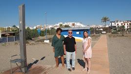 Visita de los concejales de Playas, Obras y Turismo a la costa.