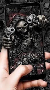 Devil Death Skull Gun Keyboard Theme - náhled