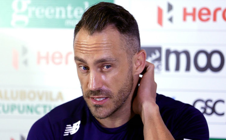South African cricket captain Faf du Plessis speaks at the pre-match news conference ahead of their first test cricket match against Sri Lanka.