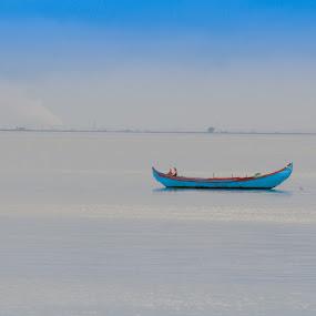 Blue by Anabela Henriques - Landscapes Waterscapes ( blue nature, water, nature, blue )