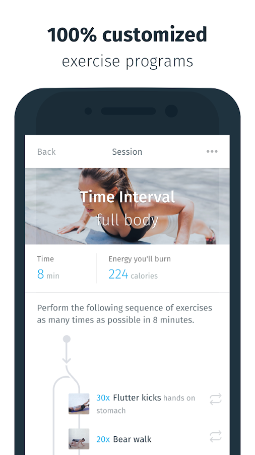 8fit - Workout & Meal Planner- screenshot
