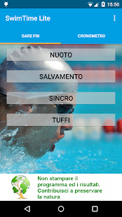SwimTime Lite- miniatura screenshot