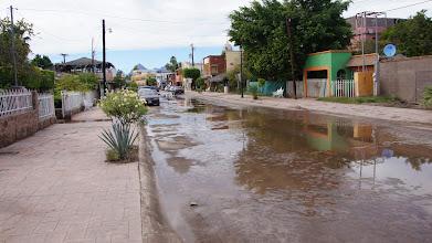 Photo: No rain just spring water flow on main street