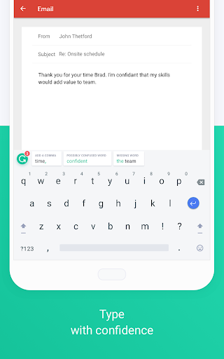 Download Grammarly Keyboard u2014 Type with confidence MOD APK 9