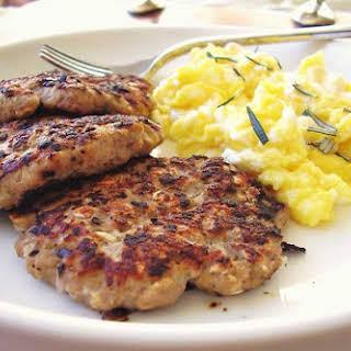 Organic Chicken Breakfast Patties.