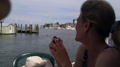 Photo: Lunch looking out over the harbor.