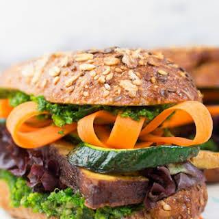Tofu and Kale Pesto Sandwich.