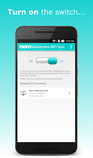 Nero MediaHome WiFi Sync- screenshot thumbnail