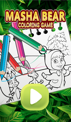 Masha Bear - Masha and The bear Coloring games 1.0 screenshots 1