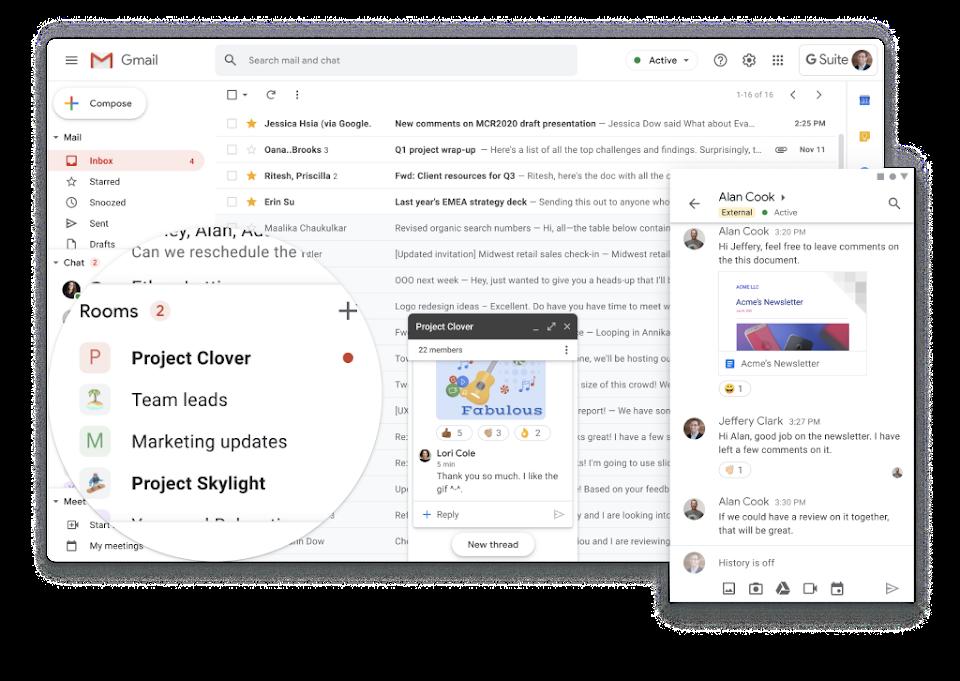 Google Workspace, Календар і Диск