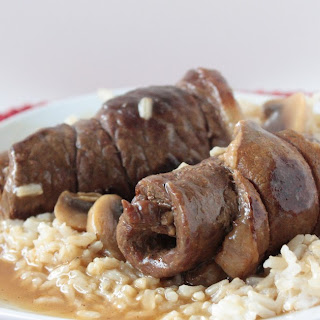 Stuffed Round Steak and Gravy.