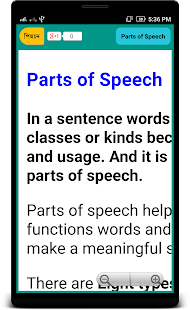 Parts of Speech English - náhled