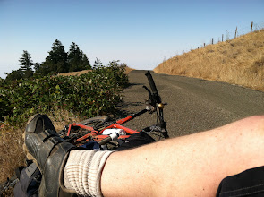 Photo: Fort Ross climb, blackberries, and a rest on the road. What could be better?
