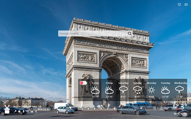 Arc De Triomphe New Tab, Wallpapers HD