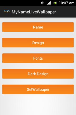 My Name Live Wallpaper Screenshot 1