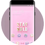Theme for stay gold pink wallpaper icon
