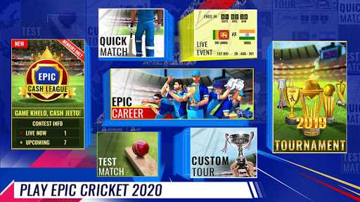 Epic Cricket - Best Cricket Simulator 3D Game apkpoly screenshots 1