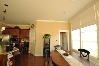 Photo: (After) Breakfast room / Kitchen crown molding, window molding, and painting - KJ's Downigtown, PA