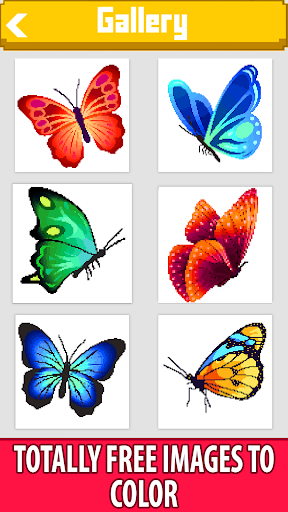 butterfly color by number - pixel art sandbox draw screenshot 1