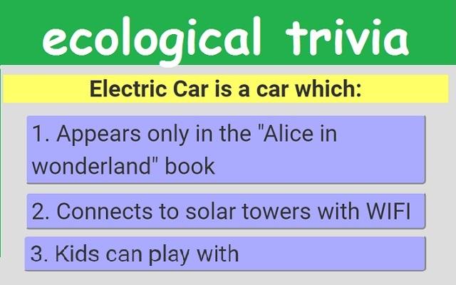 Environmental Friendly Trivia Quiz