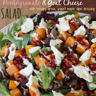 Roasted Butternut Squash, Pomegranate & Goat Cheese Salad